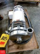 """WCB Centrifugal Pump with Dayton 2 HP 1,740 RPM Motor and 2"""" x 1.5"""" S/S Head, Clamp Type, Located"""