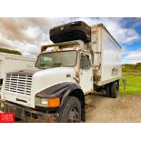 1999 International 18' Refrigerated Delivery Truck Model: 4900, 33,000 GVWR, with DT466E Diesel,