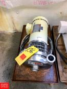 """Tri Clover Centrifugal Pump with Dayton 2 HP 1,750 RPM Motor and 2"""" X 1.5 """" S/S Head, Clamp Type,"""