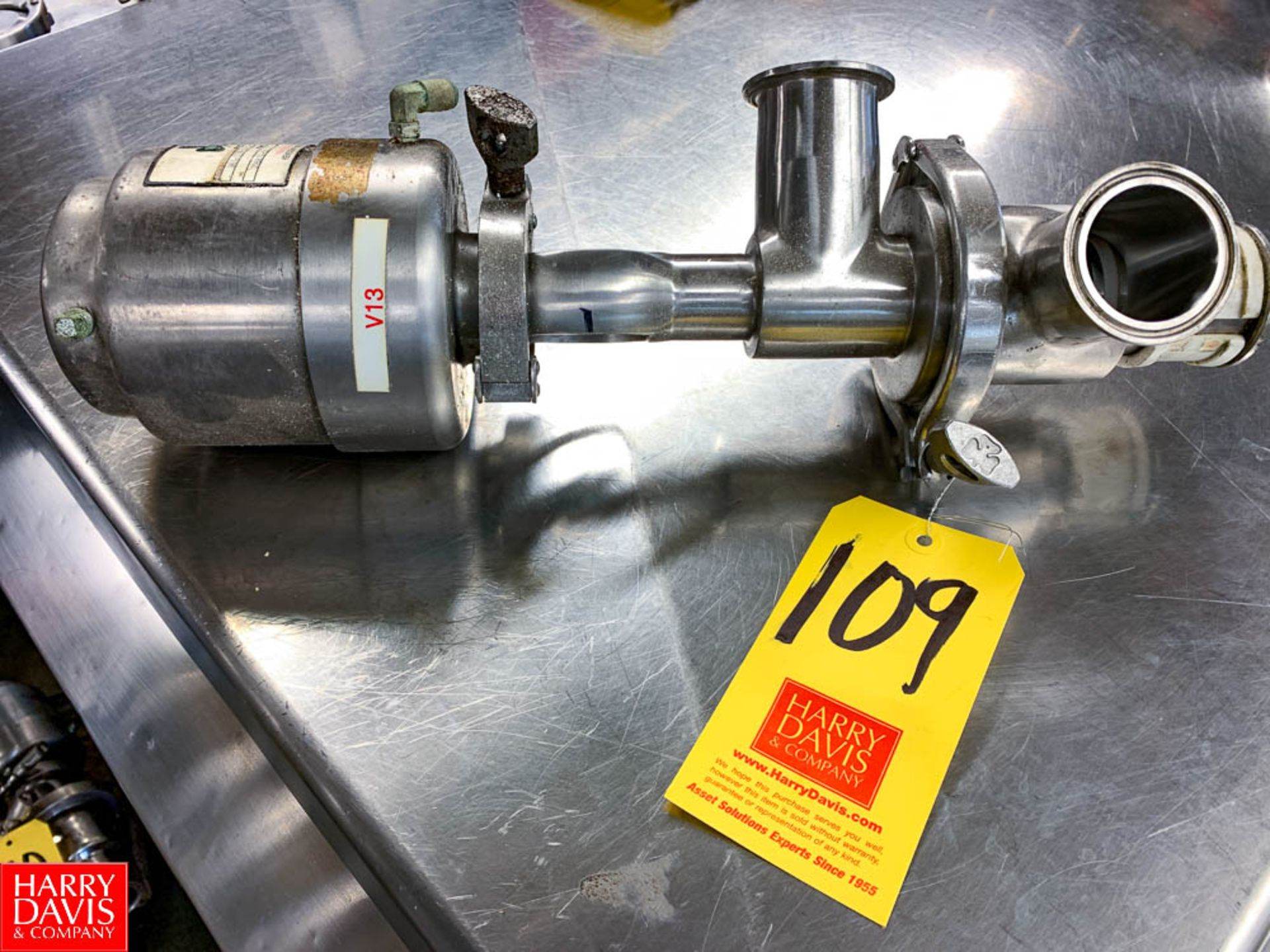 """Tri Clover 2"""" 3-Way S/S Air Valve Model 361, Clamp Type"""