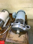 """Tri Clover Centrifugal Pump, with Reliance 1 HP 1,750 RPM Motor and 2"""" X 1.5"""" S/S Head, Clamp"""
