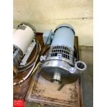 """Tri Clover Centrifugal Pump, with Reliance 1 HP 1,750 RPM Motor and 2"""" X 1.5"""" S/S Head, Clamp Type"""
