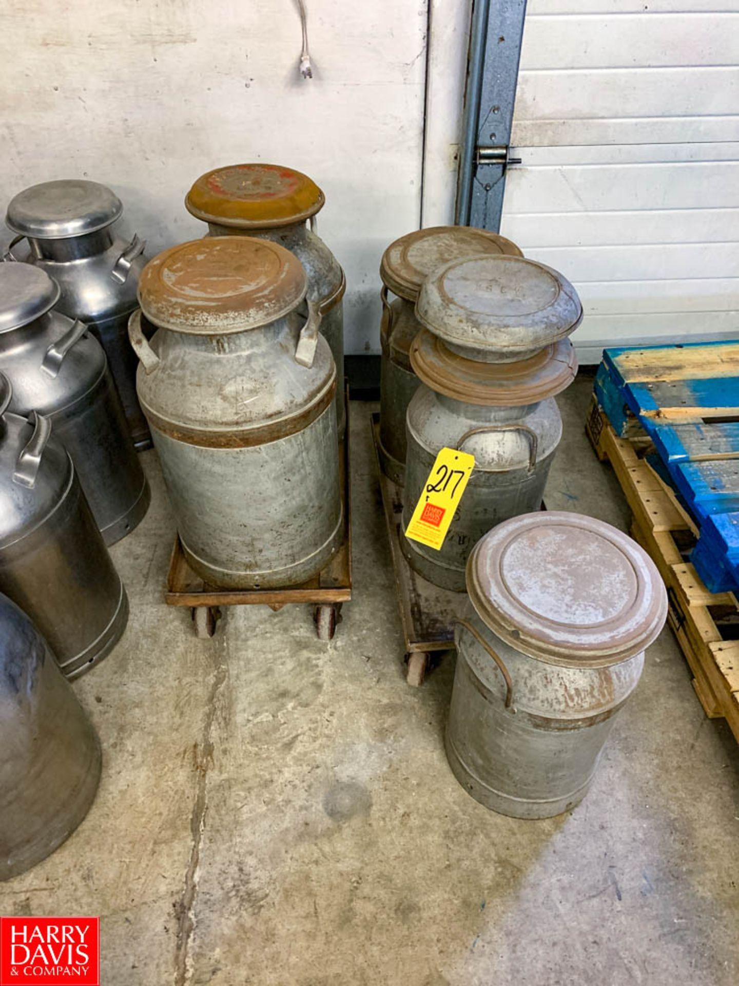 10 Gallon and 5 Gallon Milk Cans