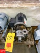 """Thomsen Centrifugal Pump, with .75 HP Motor and 1.5"""" X 1.5"""" S/S Head, Clamp Type, Located in:"""