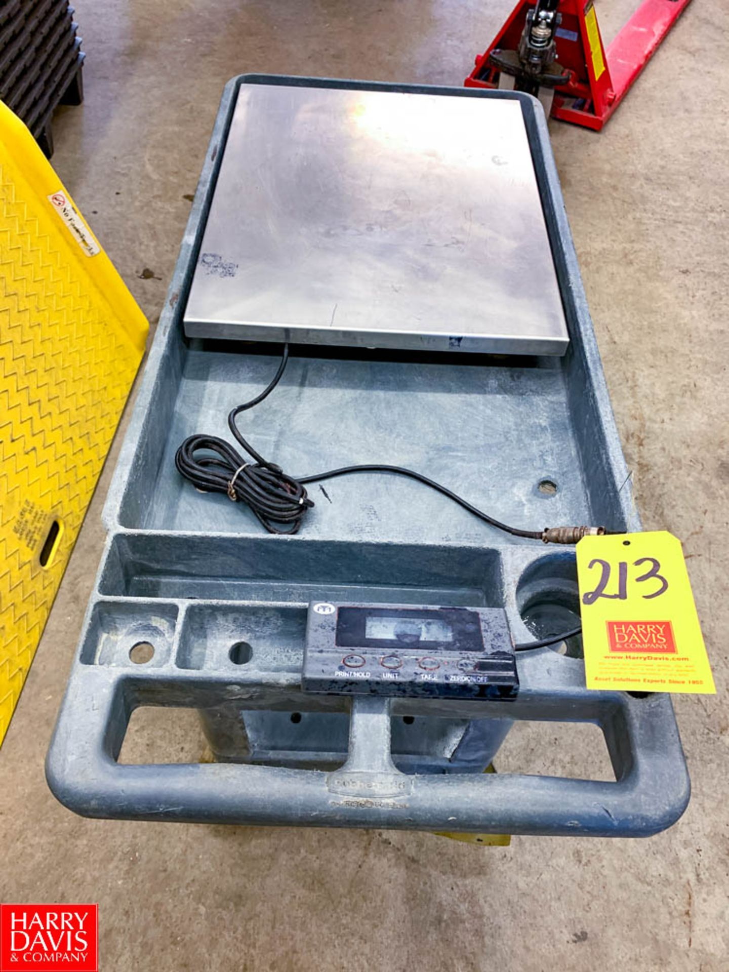 S/S Digital Scale Mounted On Cart