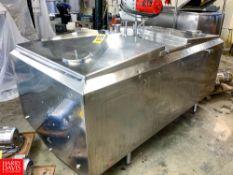 Cherry Burrell 400 Gallon S/S Farm Tank Model: FTC-15, S/N: 400-5386H, Located in:Rutland Rigging