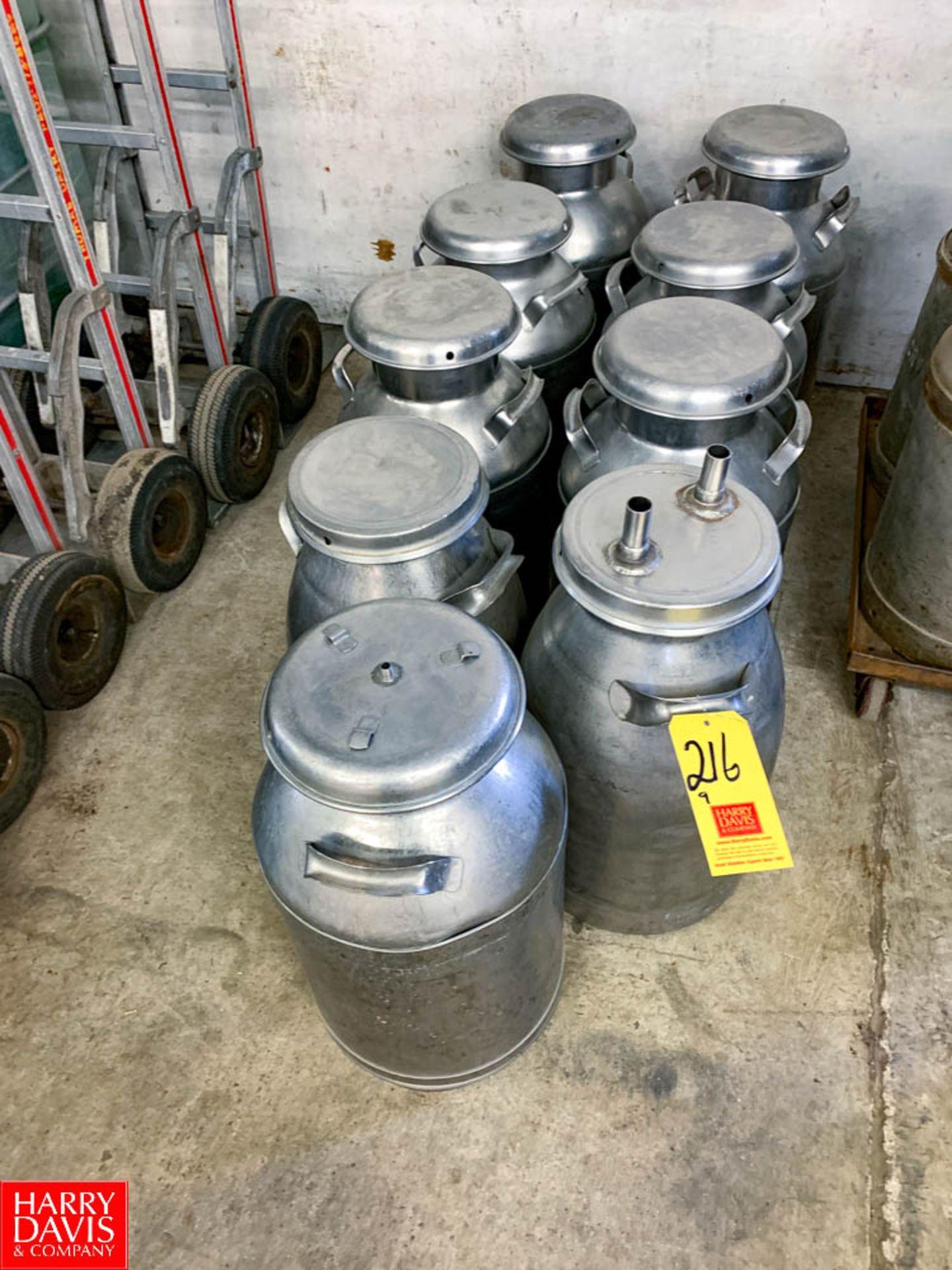 10 Gallon S/S Milk Cans