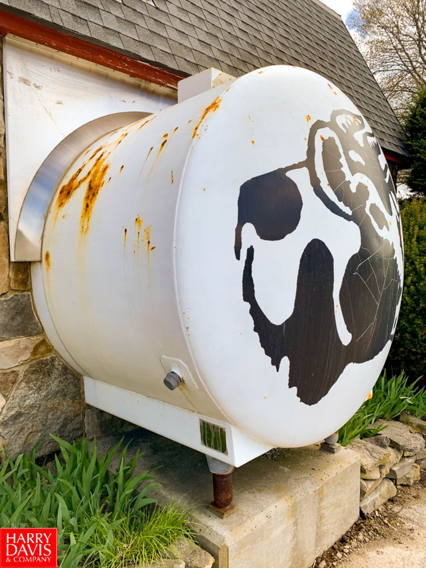 Walker 1,000 Gallon Jacketed Horizontal S/S Tank with S/S Front and Vertical Agitation, Model: HHT- - Image 3 of 4
