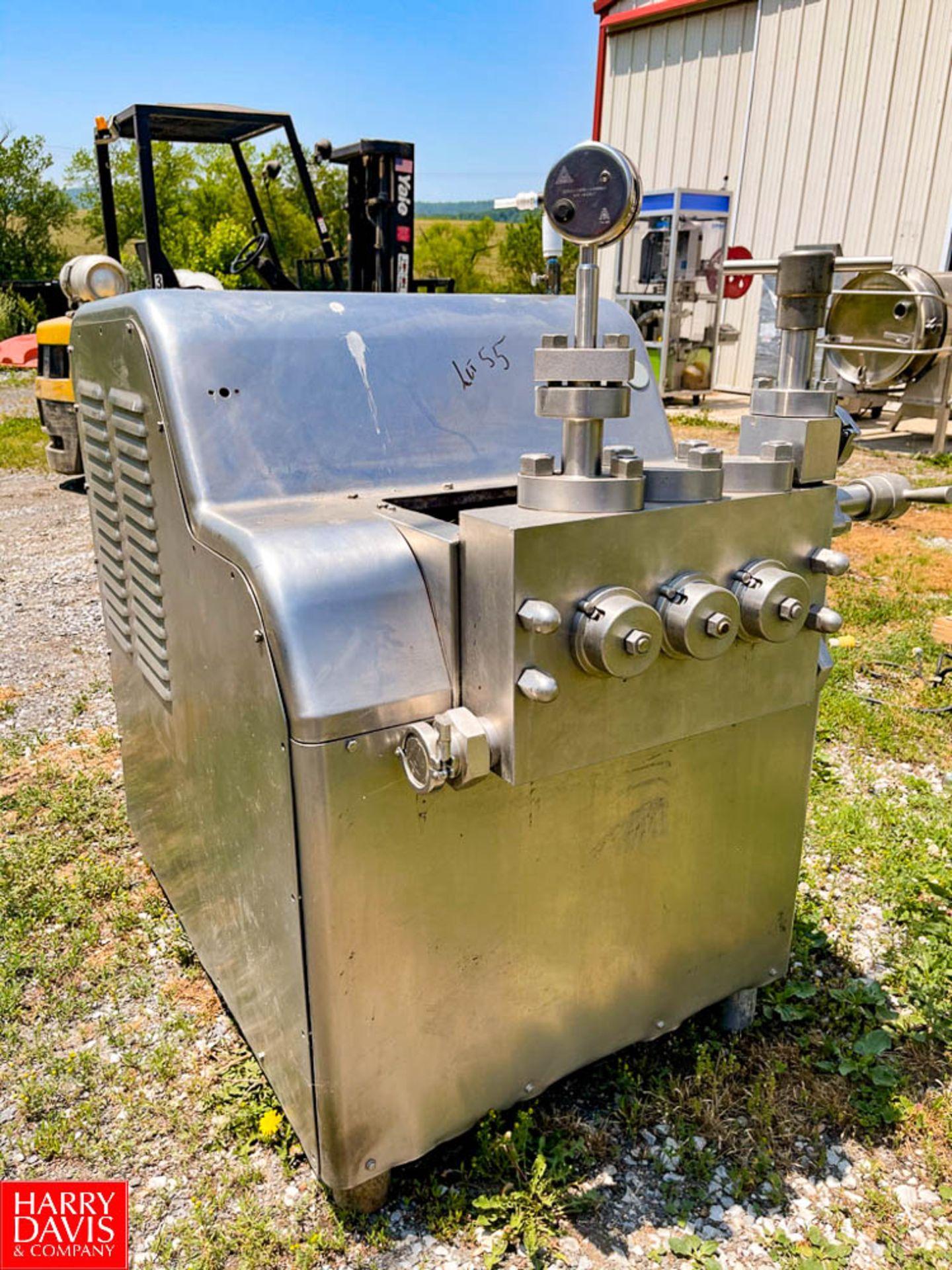Cherry Burrell S/S Homogenizer Model: SS-1800-VBR : SN 280402, 2,300 PSI, with 40 HP Motor,