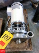 """WCB 2-Speed Centrifugal Pump with 2"""" x 1.5"""" S/S Head, Clamp Type, Located in:Rutland Rigging"""