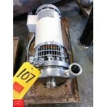 """WCB 2-Speed Centrifugal Pump with 2"""" x 1.5"""" S/S Head, Clamp Type"""