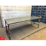 """92"""" X 32"""" S/S Top Table"""