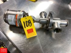 """Tri Clover 2"""" 3-Way S/S Air Valve Model 361, Clamp Type, Located in:Rutland Rigging Fee: $ 25"""