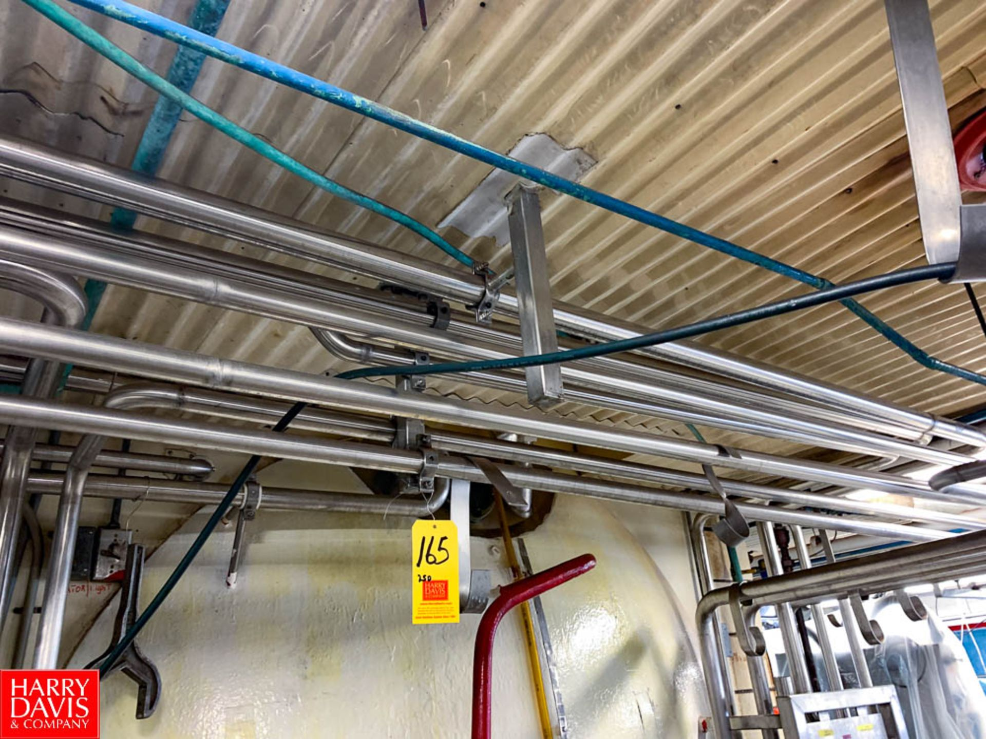 """250' 1.5"""" S/S Piping, with Hangers and Clamps"""