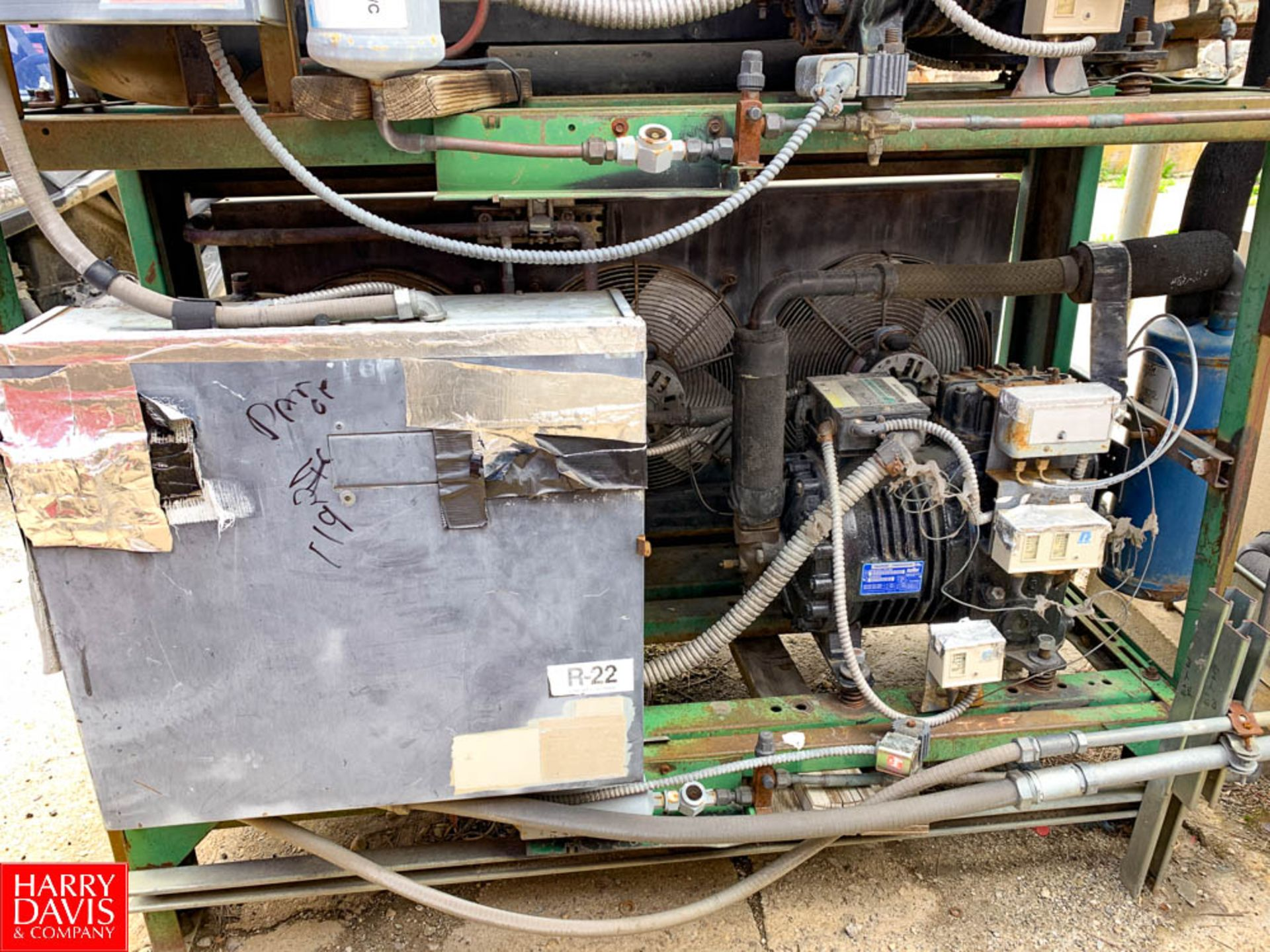 Girton Freon Refrigerated Ice Builder Model: KZ6086, S/N: 08053001, with S/S Coils, (2) Pumps and ( - Image 3 of 3