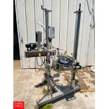 Lord Label System System Pressure Sensitive Labeler, Mounted on Portable Base Rigging Fee: $100