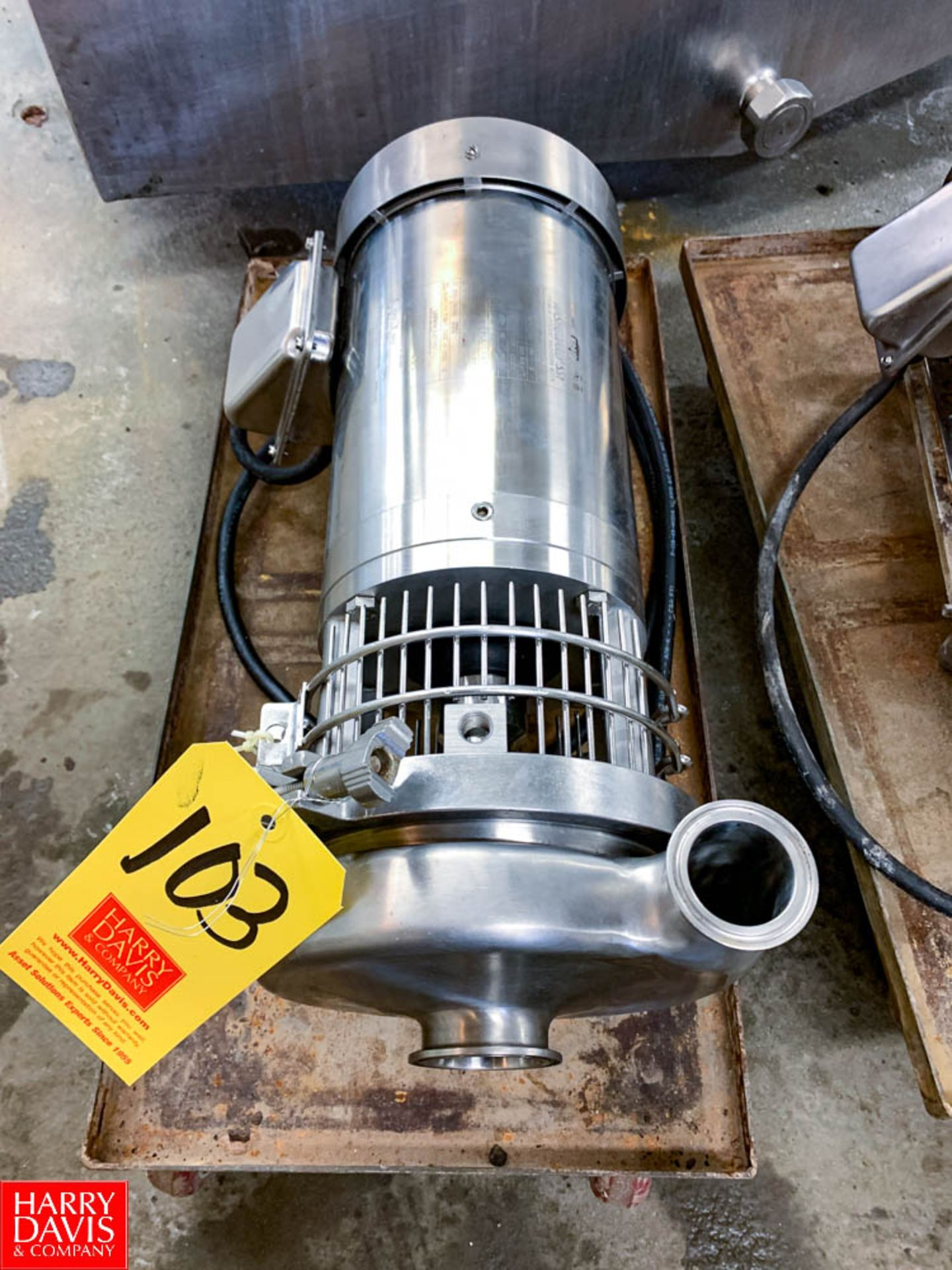 """WCB Type C 216 S/S Centrifugal Pump with 1 / .75 HP 1,750 / 1,450 RPM S/S Clad Motor and 2"""" x 1.5"""""""