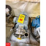 """Cherry Burrell Centrifugal Pump, with Reliance 5 HP 3,505 RPM Motor and 2"""" X 2"""" S/S Head, Clamp"""