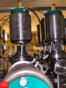 "Tri Clover 316L 2"" S/S Air Valves In Manifold, Located in:Rutland Rigging Fee: $ 500"