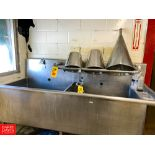S/S Double Sink, with Backsplash