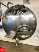 Walker 1,000 Gallon Jacketed Horizontal S/S Tank with S/S Front and Vertical Agitation, Model: HHT-