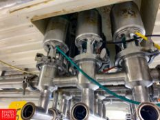 "Tri Clover 1.5"" S/S Air Valves In Manifold, Located in:Rutland Rigging Fee: $ 300"