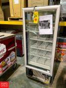 Mimet Glass Door Reach In Freezer
