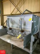 S/S Dual Ribbon Blender, with (2) Drives Rigging Fee: $350 Location: Irwin, PA