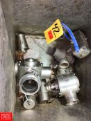"""4"""" and 3"""" S/S Air Actuated Valves, Clamp Type Rigging Fee: $25 Location: Irwin, PA"""