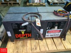 Exide Depth 36 Volt Battery Chargers Rigging Fee: $75 Location: Irwin, PA