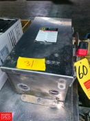 Square D 60 Amp. S/S Safety Switch Rigging Fee: $25 Location: Irwin, PA