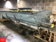 """30' S/S Auger Conveyor, with 30"""" Diam. Flights Rigging Fee: $350 Location: Irwin, PA"""