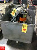 Portable S/S Tub Rigging Fee: $25 Location: Irwin, PA