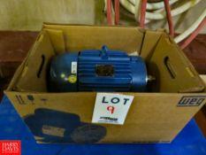 (NEW) WEG 10 HP 1,760 RPM Motor Rigging Fee: $35