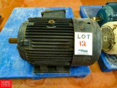 Leeson 40 HP, 3,500 RPM, 3 Phase Motor, S/N: 110032 Rigging Fee: $35