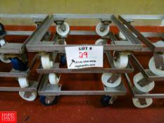 "Dollies On Wheels (29 1/2"" x 26"") Rigging Fee: $35"