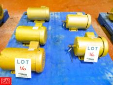 Baldor 1 HP, 2 HP, 1 1/2 HP, 1,720 RPM, 3,500 RPM Motors Rigging Fee: $35