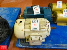 Leeson 15 HP Motors Rigging Fee: $35