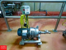 Portable Centrifugal Pump, With Leeson 3,500 RPM Motor Rigging Fee: $35