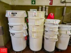 Rubbermaid Brute Waste Containers Rigging Fee: $35