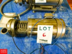 Puma 1.5 Hp. Centrifugal Pump, With Sterling 3500 Rpm S/S Clad Motor Rigging Fee: $35