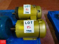 Baldor 7 1/2 HP, 10 HP, 3,500 RPM, 1,770 RPM Motors Rigging Fee: $35