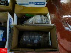 (NEW) Assorted Leeson, Baldor 1/4-1/2-1 1/2-2-3 HP Motors Rigging Fee: $35