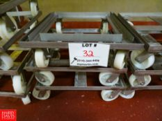 "Dollies On Wheels (28"" x 28"") Rigging Fee: $35"