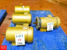 Baldor 3 HP, 5 HP, 1,750 RPM Motors Rigging Fee: $35