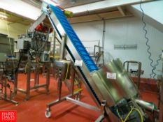 """Weigh Pack 145""""L x 19""""w Incline Conveyor With 220 Volts Motor, S/N: 2054, Rigging Fee: $280"""