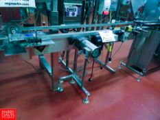 """77"""" x 4 1/2"""" S/S Frame Belt Conveyor, With Drive Rigging Fee: $140"""