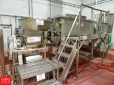 Process Blender On Stand With Feed Auger and Roller