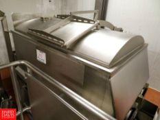 Parmesan 800 Kg, 1763 Lbs. Batch Blender Rigging Fee: $700