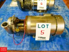 Puma Centrifugal 1.5 HP 3,500 RPM Pump With S/S Clad 3 Phase Motor Rigging Fee: $35